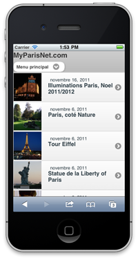 MyParisNet Mobile